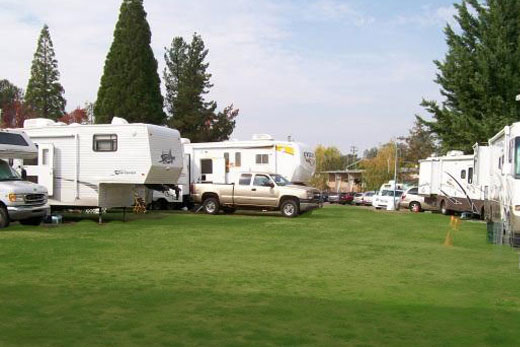 RVs on the lawn