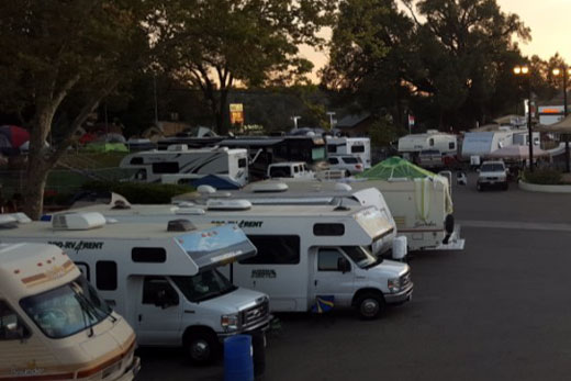RVs on the Plaza